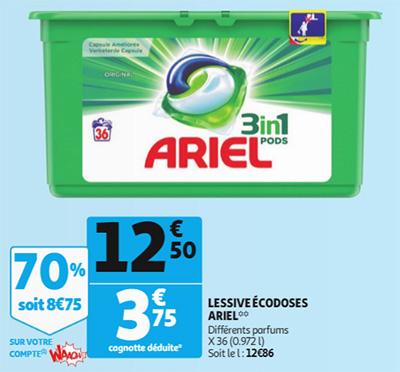 Promotion Lessive Ariel chez Auchan