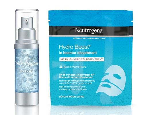 testez gratuitement le sérum Perles Booster et le masque Hydrogel de Neutrogena