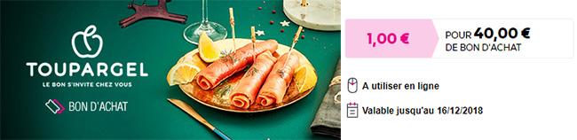 coupon Toupargel de 40€ sur Vente-privee.com