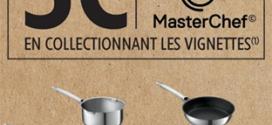 vignettes Masterchef gratuites sur le site Intermarche