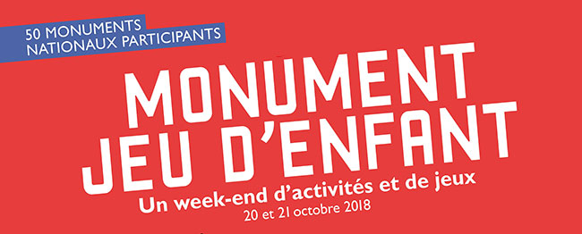 activités pédagogiques pendant Monument Jeu d'Enfant 2018
