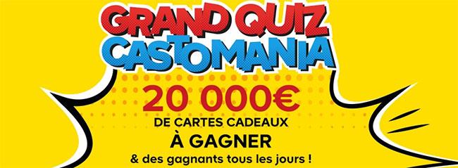 Les cartes cadeaux Castorama à gagner au jeu Castomania