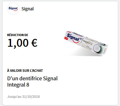 Bon de réduction dentifrice Signal