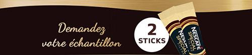 Recevez gratuitement des sticks de Nescafé Special Filtre