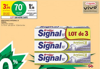 Promo dentifrices Signal chez Intermarché