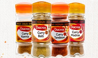 Jeu Ducros : 50 lots de 4 flacons de Curry à gagner