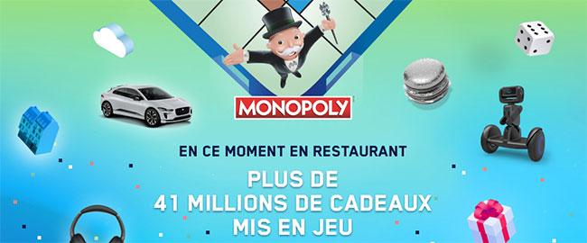 Principe du jeu Monopoly 100% gagnant 2019 de McDo