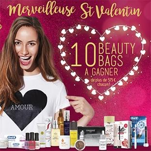 10 Beauty Bags (avec + de 575€ de produits de beauté) à gagner
