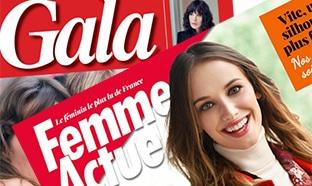 Un magazine féminin gratuit : Gala ou Femme Actuelle