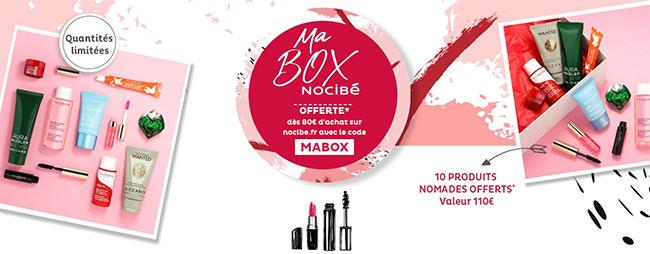 110€ de produits offerts avec le code promo MABOX