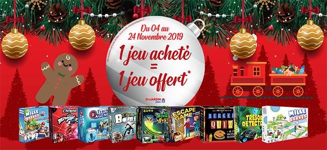 Offre de remboursement : Achetez 2 jeux Dujardin pour le prix d'un