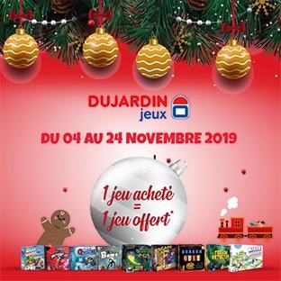 ODR Dujardin Noël : 1 jeu acheté = 1 offert (100% remboursé)