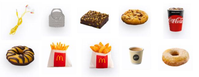 les produits McDo offerts à remporter