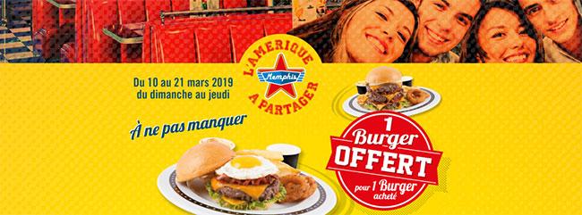 Un burger offert dans les restaurants Memphis Coffee