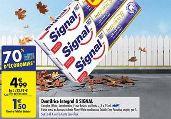 Promotion Signal chez Carrefour