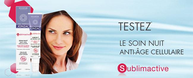 testez le soin anti-âge Sublimactive d'Eau Thermale Jonzac