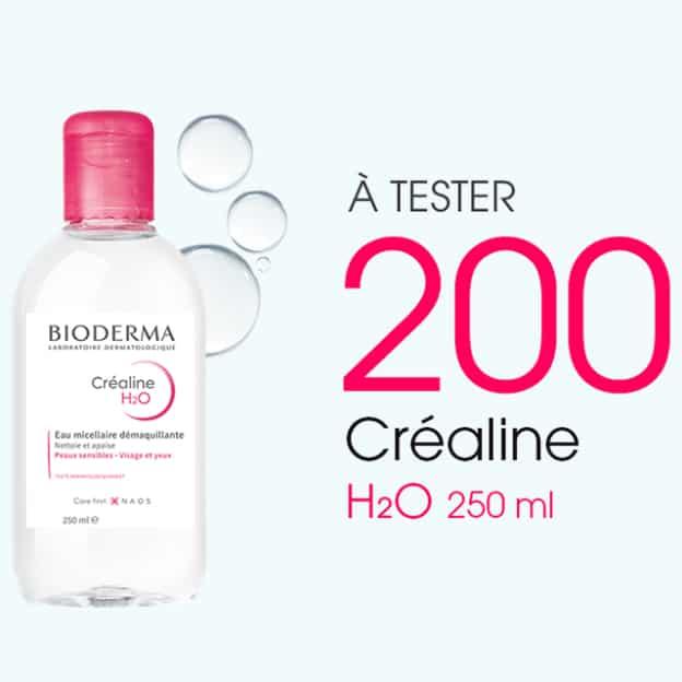 Test Bioderma : 200 eaux micellaires Créaline H2O gratuites
