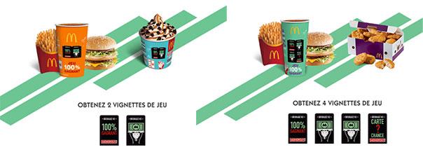 Les vignettes offertes du jeu Monopoly 2018 by McDonald's