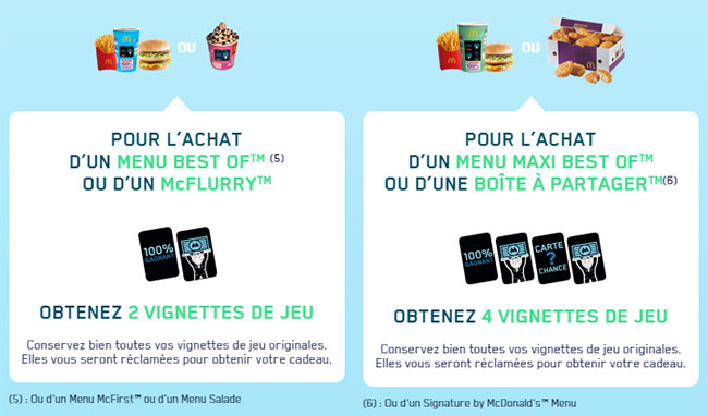 Les vignettes offertes du jeu Monopoly 2019 by McDonald's