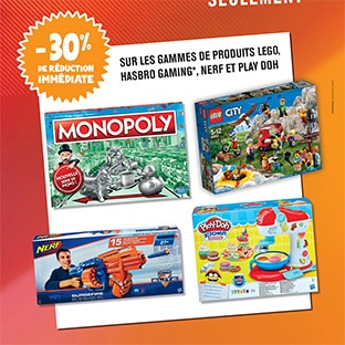 Black Friday Leclerc : Jouets Lego, Hasbro, Nerf et Play Doh