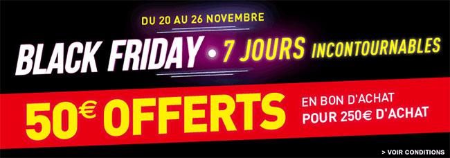 Bon d'achat offert de 50€ pour le Black Friday de Conforama