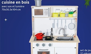 Action : Cuisine en bois pour enfants à 34,95€ seulement