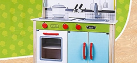 Action : Cuisine en bois pour enfants à 39,95€ seulement
