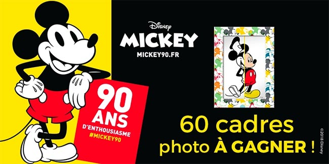 Cadres photo Mickey à gagner