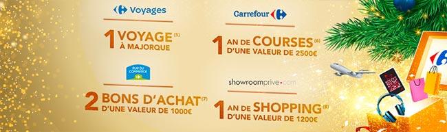 Les cadeaux à gagner au tirage de Noël Carrefour