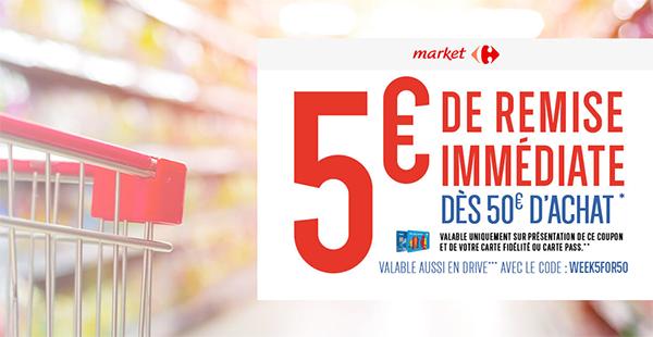 Bon De Reduction Carrefour Market 5 De Remise Des 50