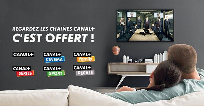 les chaînes canal plus offertes avec Free