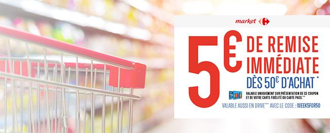 coupon de réduction Carrefour Market