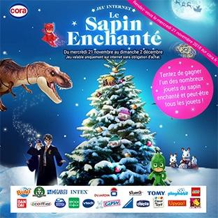 Jeu Cora Sapin Enchanté : 1120 jouets de Noël à gagner