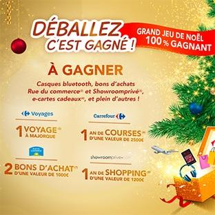 Jeu de Noël Carrefour : 304 cadeaux et 500'000 réductions