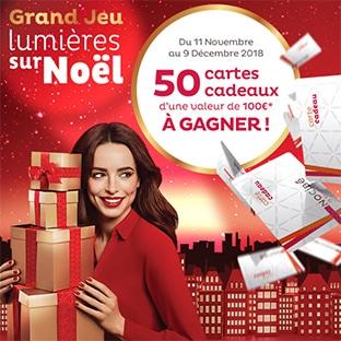 Jeu de Noël Nocibé : 50 cartes cadeaux de 100€ à gagner
