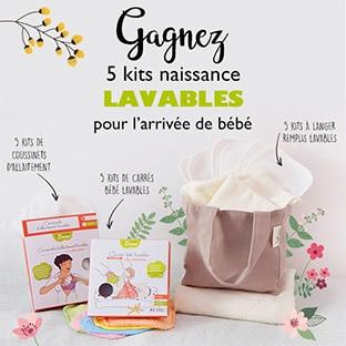 Jeu La Boîte Rose : 5 kits de naissance lavables à gagner