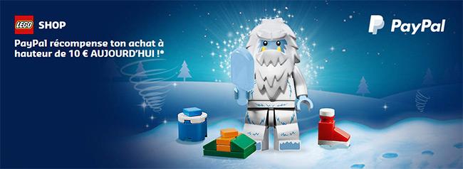 Bénéficiez de 10€ de remise dès 20€ d'achat de jouets LEGO avec Paypal
