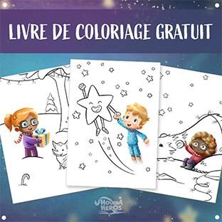 Hourra Héros : Livre de coloriage de Noël personnalisé gratuit