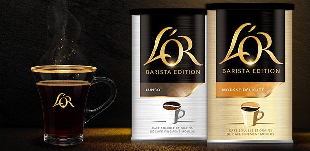 cafés solubles L'OR Barista Edition
