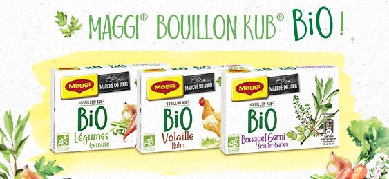 testez gratuitement le nouveau Bouillon KUB BIO de Maggi