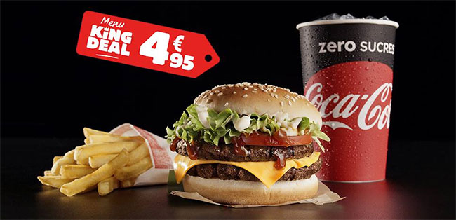 Menu King Deal : Hamburger + frite + boisson