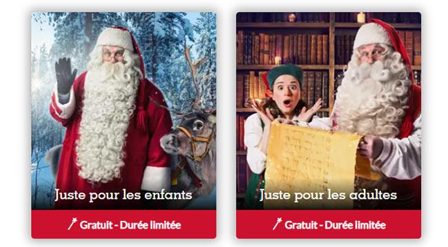 Message personnalisé du Père Noël