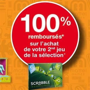 Offre de remboursement Mattel : 2ème jeu 100% remboursé