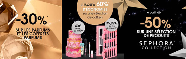 Les promotions Black Friday de Sephora