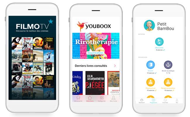 Abonnements gratuits à Petit Bambou, Youboox et FilmoTV