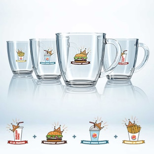 Burger King : 4 mugs offerts collectionnés = 1 menu offert