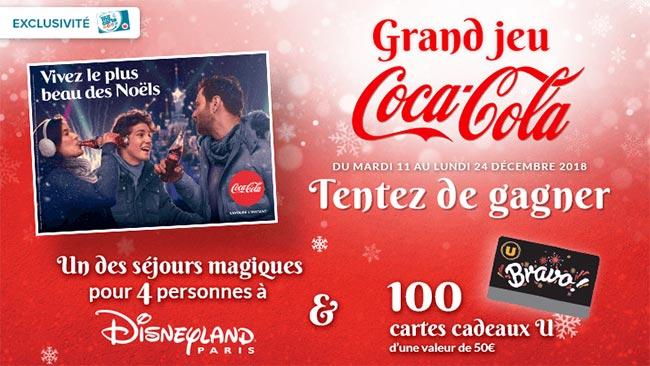 Les cadeaux à gagner au jeu Coca-Cola avec les Magasins-u