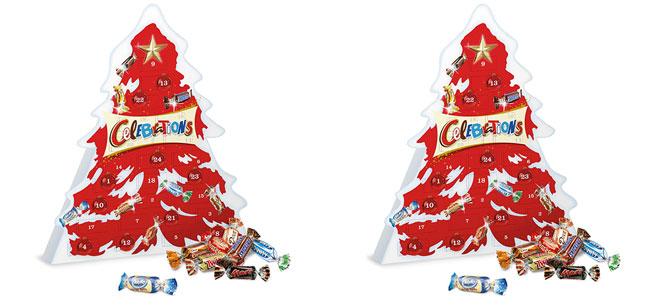 Calendrier chocolaté Celebrations pas cher