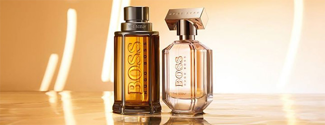 Doses d'essai gratuites de The Scent For Her ou For Him by Hugo Boss