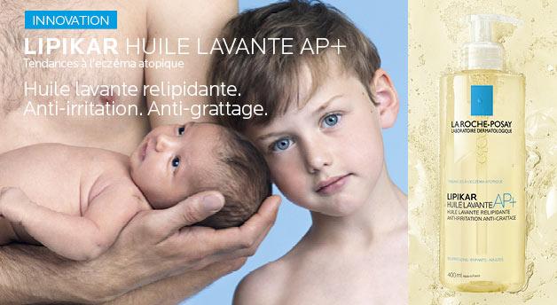 testez l'huile lavante Lipikar AP+ de La Roche-Posay